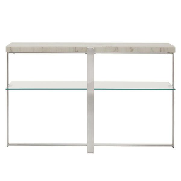 Diana Chrome Marble Top Framed Sofa Table, image 2